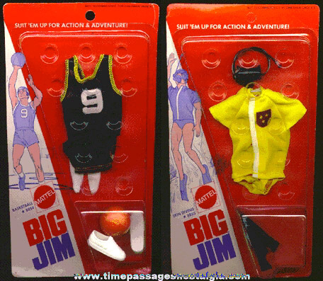 (2) ©1973 Unopened BIG JIM Action & Adventure Outfits