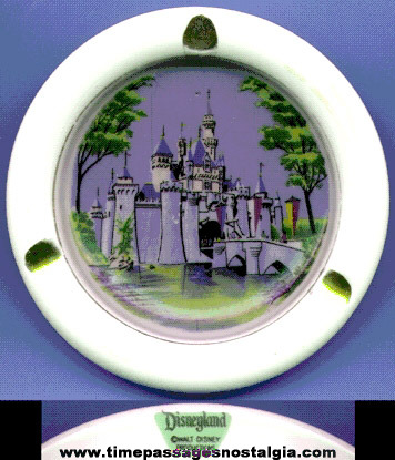 Old Disneyland Porcelain Souvenir Ashtray