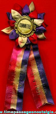 1931 Everett, Massachusetts N.E.S.V.F.A. Volunteer Fireman Association League Muster Ribbon