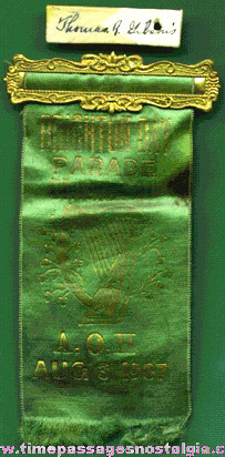 1907 Ancient Order of Hibernians Brighton Day Parade Ribbon