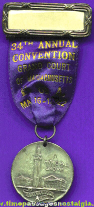 1922 Foresters Of America Grand Court Of Massachusetts Convention Ribbon Medal
