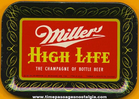 ©1952 Miller Beer Advertising Tip Tray