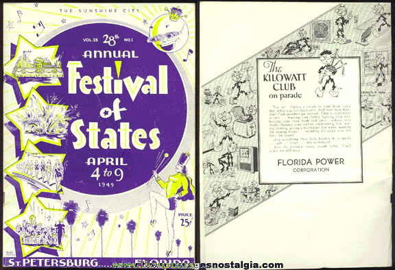 1949 St. Petersburg, Florida Festival Of States Program Book