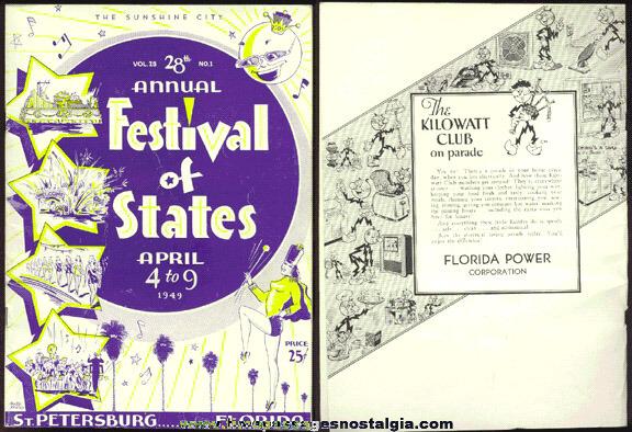 1949 St. Petersburg, Florida Festival Of States Program Book