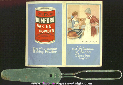 (2) Old RUMFORD Baking Powder Advertising Premium Items