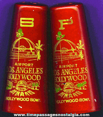 Old Los Angeles / Hollywood Souvenir Salt & Pepper Shaker Set
