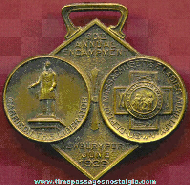30th Annual Spanish American War Encampment Watch Fob Or Ribbon Medal