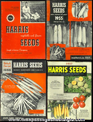 (4) Old HARRIS SEED Catalog Books