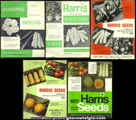 (5) Old HARRIS SEED Catalog Books