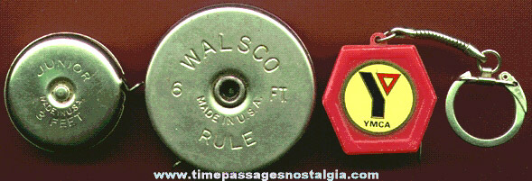 (3) Different Small Old Measuring Tapes