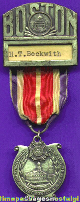 1939 Veterans Of Foreign Wars (V.F.W.) Boston, Massachusetts Encampment Medal