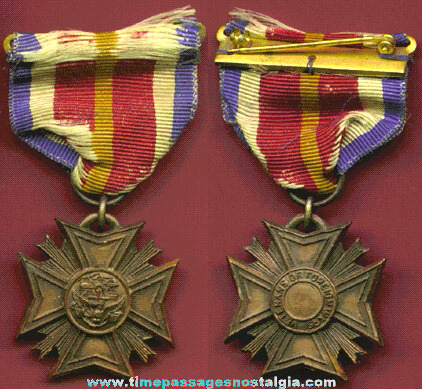 Old Veterans Of Foreign Wars (V.F.W.) Medal / Ribbon