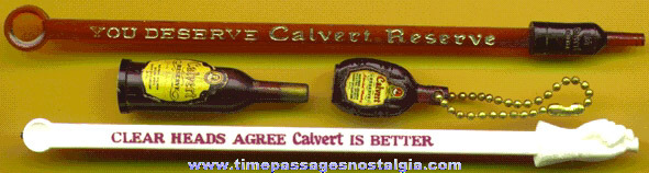 (4) Small Old Calvert Whiskey Advertising Items