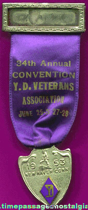 1953 Yankee Division Veterans Association Convention Ribbon Medal