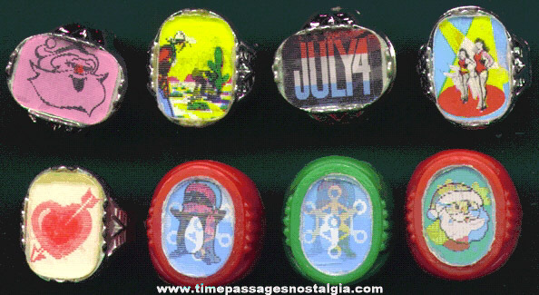 (8) Novelty / Gum Ball Machine Prize Toy Flicker Rings
