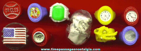 (10) Novelty / Gum Ball Machine Prize Toy Rings