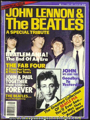 """©1980 """"John Lennon And The Beatles"""" Special Tribute Magazine"""