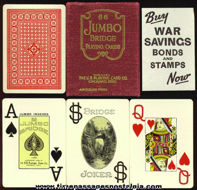 1940's Boxed JUMBO Bridge Card Deck