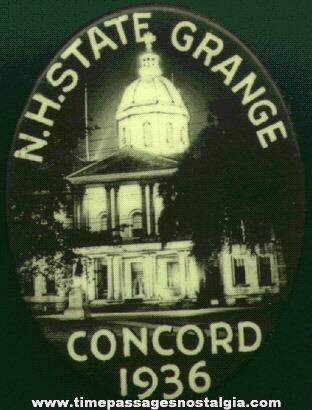 1936 New Hampshire State Grange Pin
