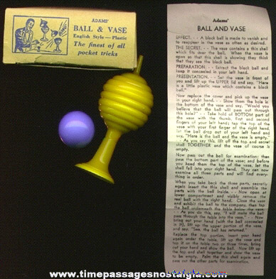 Old ADAMS Ball & Vase Boxed Magic Trick