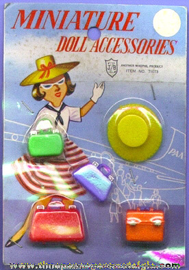 Old Unopened Package Of Miniature Doll Accessories