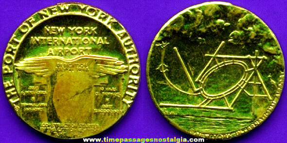 Old New York International Airport Advertising Coin