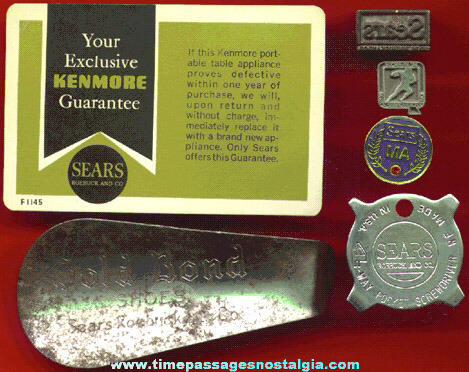 (6) Old Sears Roebuck & Company Advertising and Premium Items