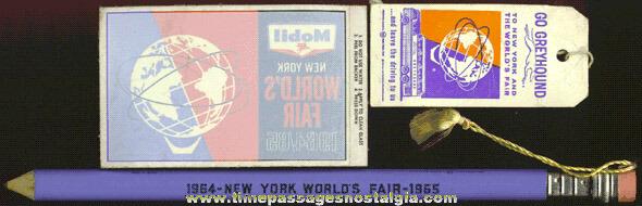(3) 1964 - 1965 New York World's Fair Items