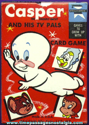 Old Unopened Casper The Friendly Ghost And His TV Pals Card Game