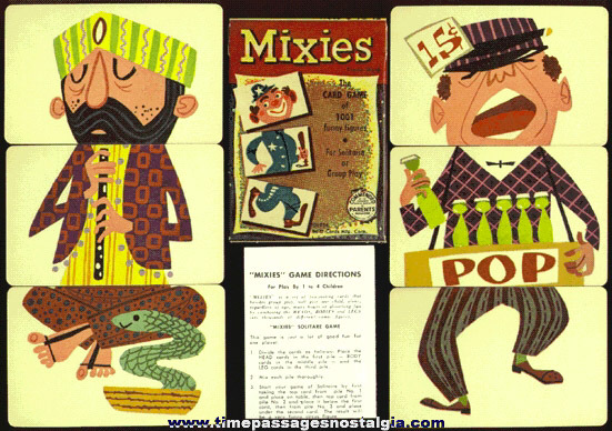 ©1956 Unused Boxed Ed-U-Cards Mixies Card Game