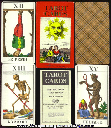 �1970 Unused Boxed Set Of Tarot Cards