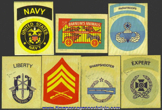 (7) Different 1973 Fleers Cloth Patch Sheets