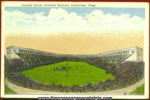 1918 Harvard Stadium Football Post Card