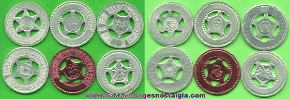 (6) Different Good Luck Tokens / Coins