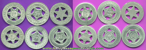 (6) Different Good Luck Tokens