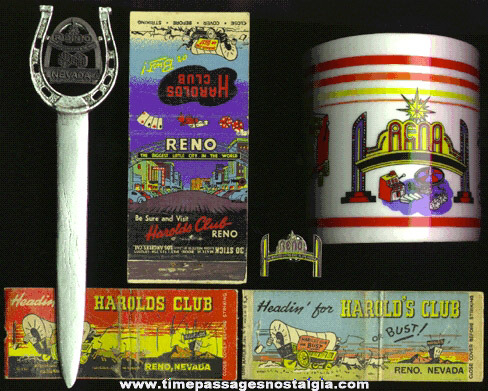 (6) RENO, Nevada Advertising Souvenir Items