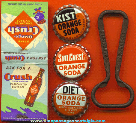 (5) Small Old Orange Soda Advertising Items