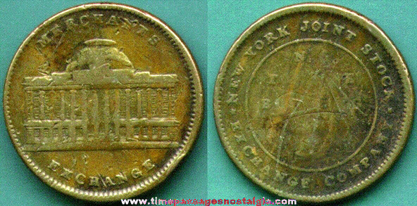Old New York Joint Stock Exchange Token / Coin