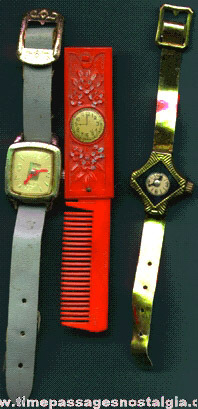 (3) Different Old Toy Watches