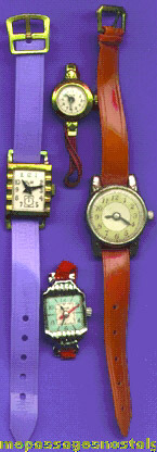 (4) Different Old Toy Watches