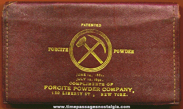 Old Leather Forcite Powder Company Advertising Premium Wallet