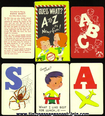 "Old Boxed ""Guess What? A To Z"" Children's Card Game"