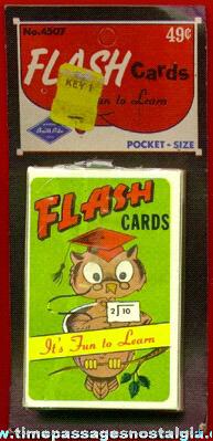 """Old Unopened Boxed & Carded """"Flash Cards"""" Children's Card Game"""