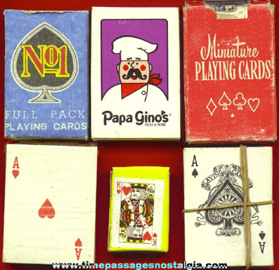 (6) Different Miniature Playing Card Decks