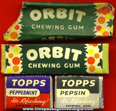 (4) OLD GUM ITEMS (3 are unopened)