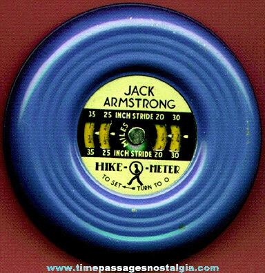 1938 JACK ARMSTRONG Radio / Cereal Premium Hike-O-Meter