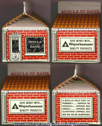 Old Milk Carton Advertising Premium Coin Bank