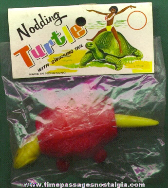 Old Unopened Novelty Nodder Turtle Toy