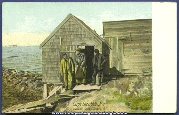 Old Unused Cape Elizabeth, Maine Post Card