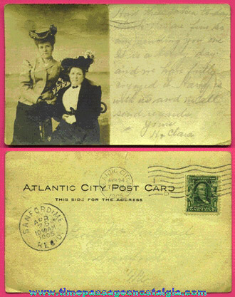 1905 Victorian Ladies Atlantic City Souvenir Real Photo Post Card